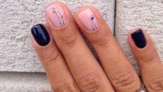 Рисунок на ногтях простой но красивый