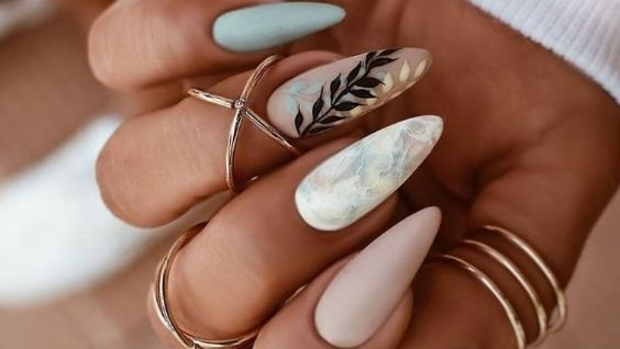 Дизайн ногтей на длинные ногти миндальной формы