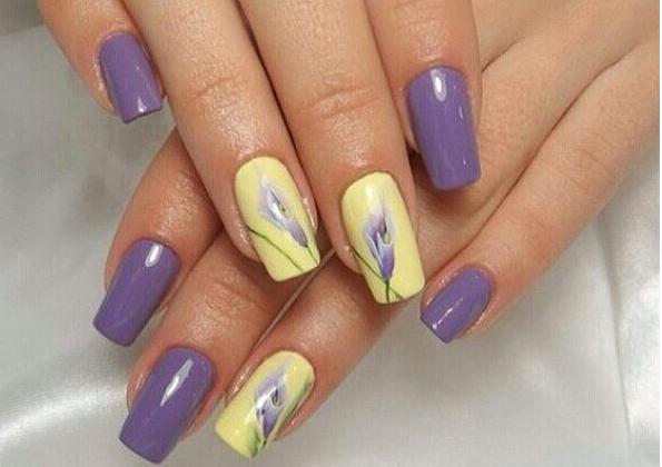 Дизайн ногтей nude в стиле Прованс